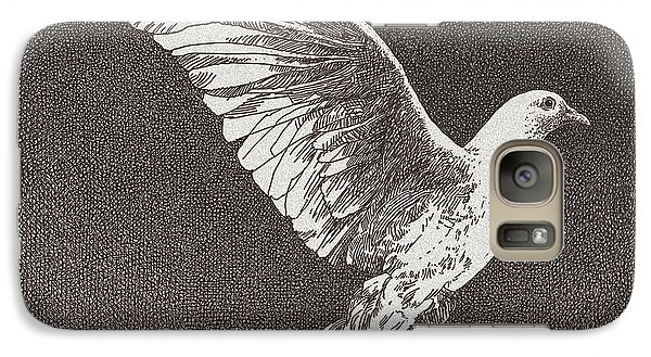 Dove Drawing Galaxy Case by William Beauchamp