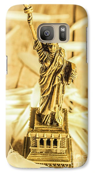 Dove Galaxy S7 Case - Dove Feathers And American Landmarks by Jorgo Photography - Wall Art Gallery