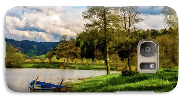 Galaxy Case featuring the photograph Down By The Lake Photodigitalpainting by David Dehner