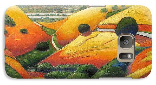Galaxy Case featuring the painting Down Metcalf Road by Gary Coleman