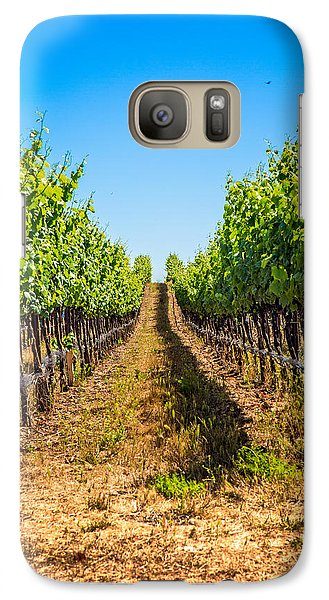 Down The Row Galaxy S7 Case by Kim Wilson