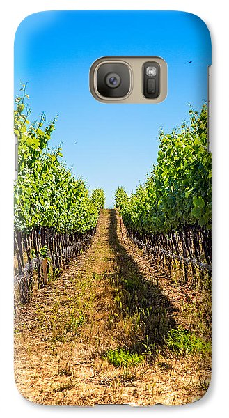 Galaxy Case featuring the photograph Down The Row by Kim Wilson