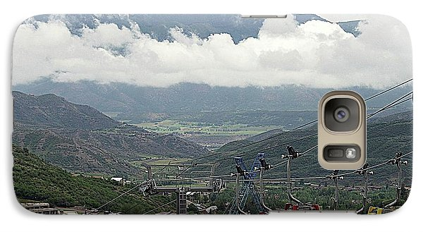 Galaxy Case featuring the photograph Down The Valley At Snowmass by Jerry Battle