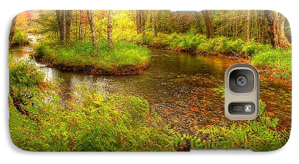 Galaxy Case featuring the photograph Downeast Fall Stream by Alana Ranney