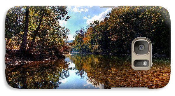Galaxy Case featuring the photograph Downriver At Ozark Campground by Michael Dougherty