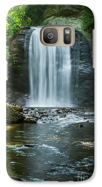 Galaxy Case featuring the photograph Downstream Shade Looking Glass Falls Great Smoky Mountains Art by Reid Callaway