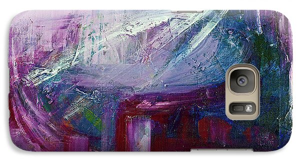 Galaxy Case featuring the painting Downtown Early Morning by Walter Fahmy
