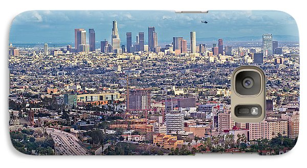 Galaxy Case featuring the photograph Downtown Los Angeles by Kim Wilson