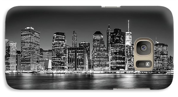 Galaxy Case featuring the photograph Downtown Manhattan Bw by Az Jackson