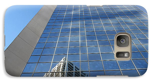 Galaxy Case featuring the photograph Downtown Reflection by Wilko Van de Kamp