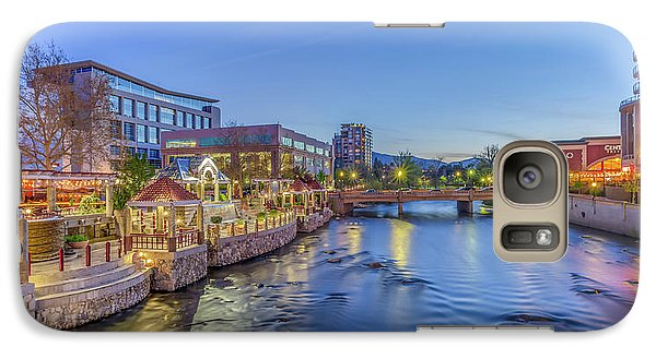 Galaxy Case featuring the photograph Downtown Reno Along The Truckee River by Scott McGuire