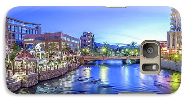 Galaxy Case featuring the photograph Downtown Reno Summer Twilight by Scott McGuire
