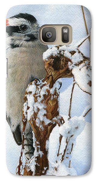 Downy Woodpecker  Galaxy S7 Case by Ken Everett