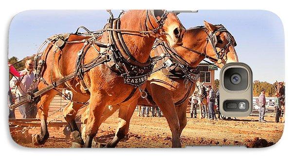 Galaxy Case featuring the photograph Draft Horse Pulling Cedar City Livestock Festival 2015 by Deborah Moen