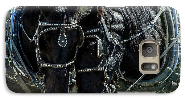 Galaxy Case featuring the photograph Draft Horses by Mary Hone