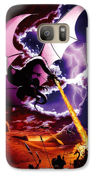 Fantasy Galaxy S7 Case - Dragon Attack by The Dragon Chronicles - Steve Re