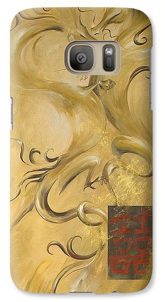 Galaxy Case featuring the painting Dragon Double Happiness by Dina Dargo