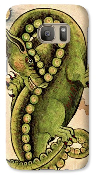 Galaxy Case featuring the painting Dragon Dragon by Lora Serra