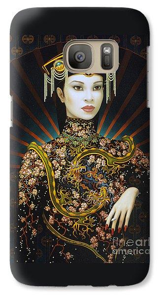 Dragon Galaxy S7 Case - Dragon Smoke by Jane Whiting Chrzanoska