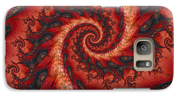 Galaxy Case featuring the digital art Dragon Tail Spiral by Richard Ortolano