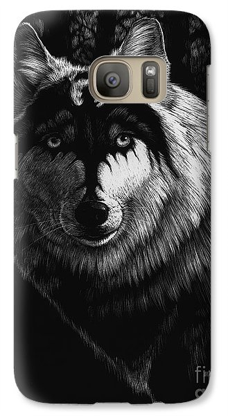 Dragon Galaxy S7 Case - Dragon Wolf by Stanley Morrison