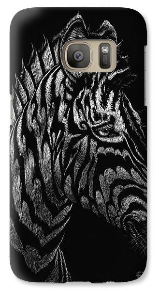 Galaxy Case featuring the painting Dragon Zebra by Stanley Morrison
