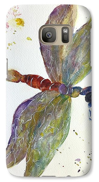 Galaxy Case featuring the painting Dragonfly by Lucia Grilletto