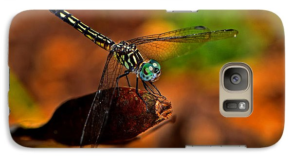 Galaxy Case featuring the photograph Dragonfly On A Flower Pod 002 by George Bostian