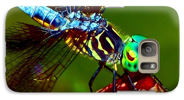 Galaxy Case featuring the photograph Dragonfly On A Pitcher Plant 007 by George Bostian
