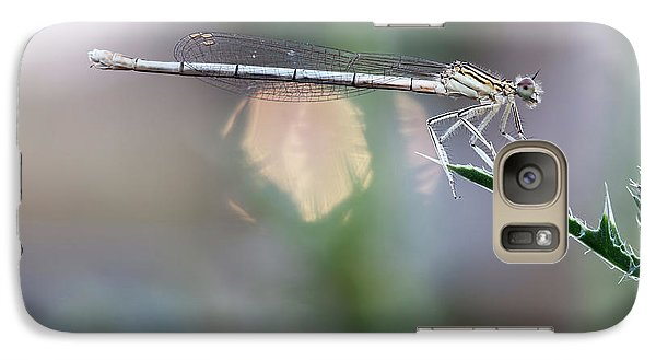 Galaxy Case featuring the photograph Dragonfly On Leaf by Michal Boubin