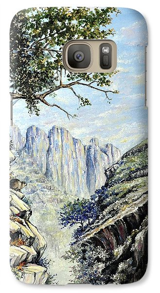Galaxy Case featuring the painting Drakensberg by Heidi Kriel