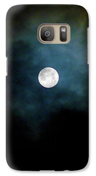 Galaxy Case featuring the photograph Drama Queen Full Moon by Menega Sabidussi