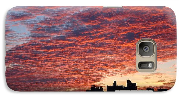 Galaxy Case featuring the photograph Dramatic City Sunrise by Yali Shi