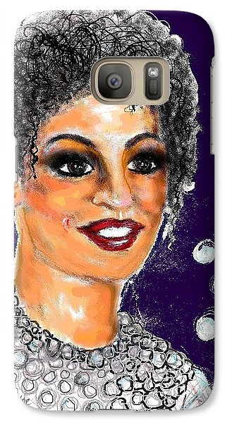 Galaxy Case featuring the digital art Dramatic Flare by Desline Vitto