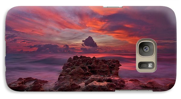 Galaxy Case featuring the photograph Dramatic Sunrise Over Coral Cove Beach In Jupiter Florida by Justin Kelefas
