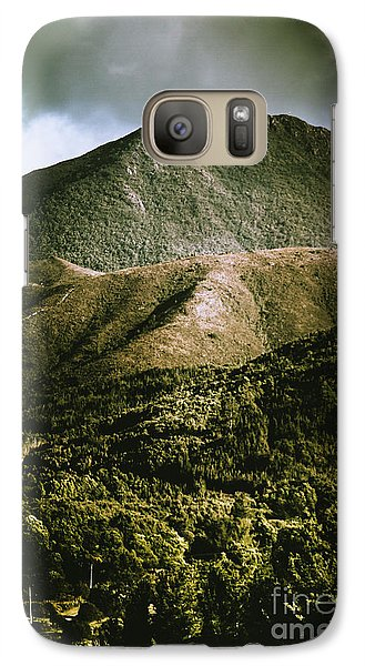 Mount Rushmore Galaxy S7 Case - Dramatic View On Mount Zeehan Against Stormy Cloud by Jorgo Photography - Wall Art Gallery