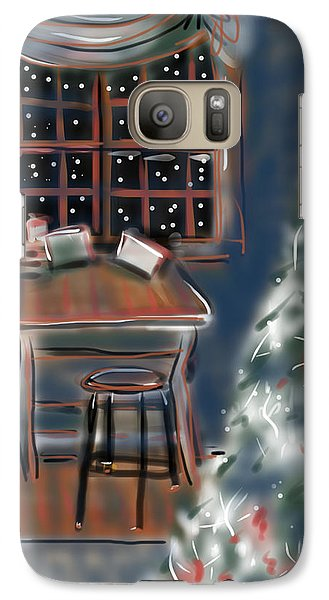 Galaxy Case featuring the painting Drawing Board At Christmas by Jean Pacheco Ravinski