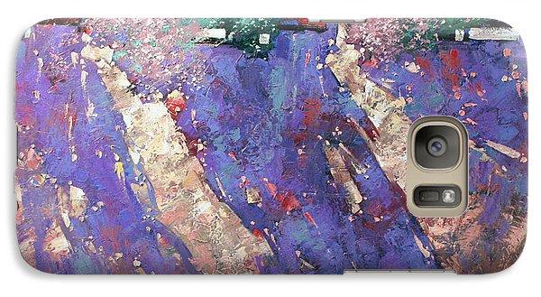 Galaxy Case featuring the painting Drawn Sun. by Anastasija Kraineva