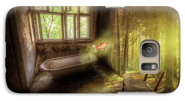 Galaxy Case featuring the digital art Dream Bathtime by Nathan Wright