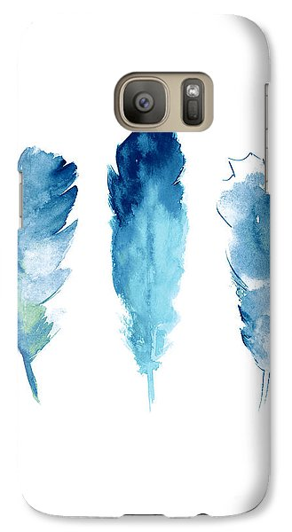 Dream Catcher Feathers Painting Galaxy Case by Joanna Szmerdt