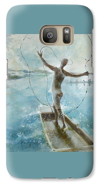 Galaxy Case featuring the painting Dream Catcher by Gertrude Palmer
