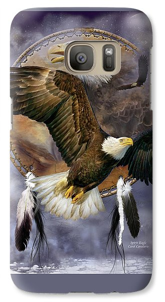 Dream Catcher - Spirit Eagle Galaxy S7 Case by Carol Cavalaris