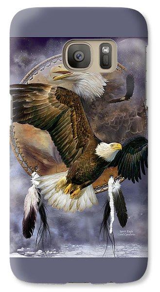Dream Catcher - Spirit Eagle Galaxy S7 Case by Carol Cavalaris