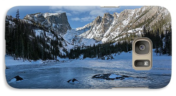 Galaxy Case featuring the photograph Dream Lake Morning by Aaron Spong