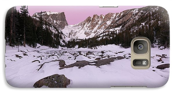 Galaxy Case featuring the photograph Dream Lake - Pre Dawn by Aaron Spong