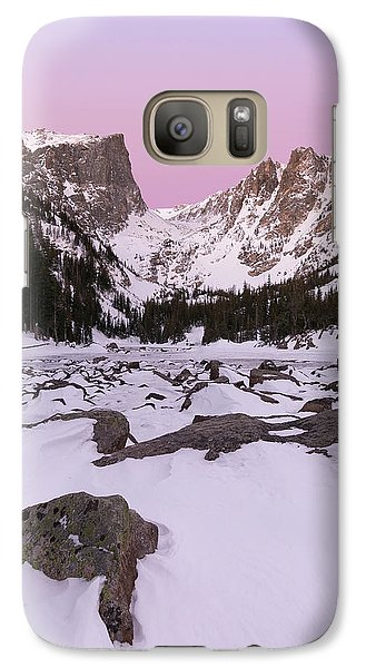 Galaxy Case featuring the photograph Dream Lake Winter Vertical by Aaron Spong