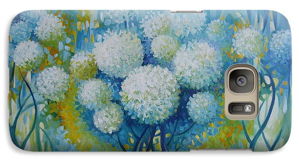 Galaxy Case featuring the painting Dream Land by Elena Oleniuc