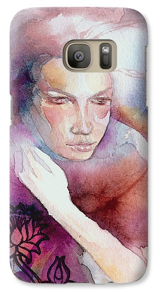 Galaxy Case featuring the painting Dream Lotus by Ragen Mendenhall