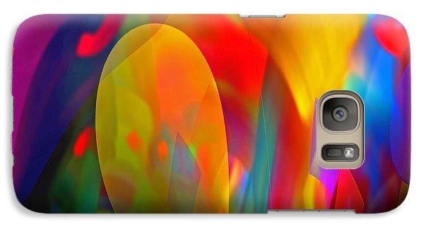 Galaxy Case featuring the digital art Dream Of Red by Lynda Lehmann