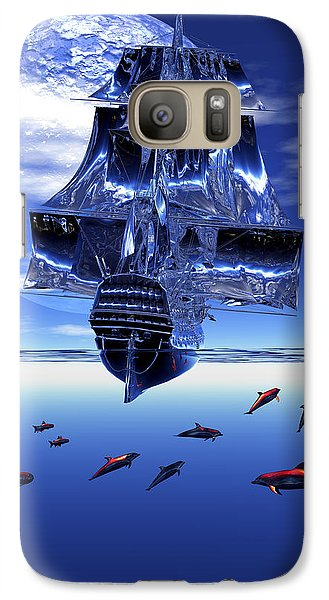 Galaxy Case featuring the digital art Dream Sea Voyager by Claude McCoy